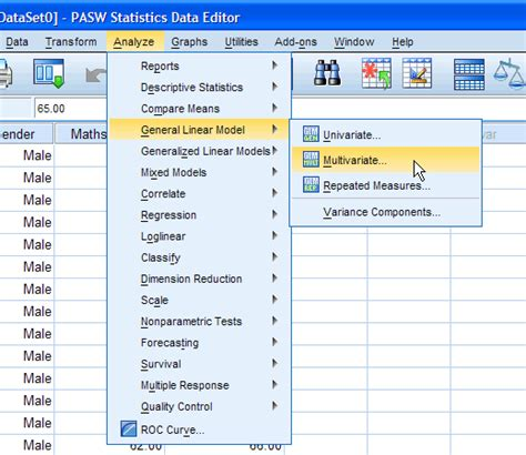 spss tutorial for anova one way manova in spss statistics step by step procedure