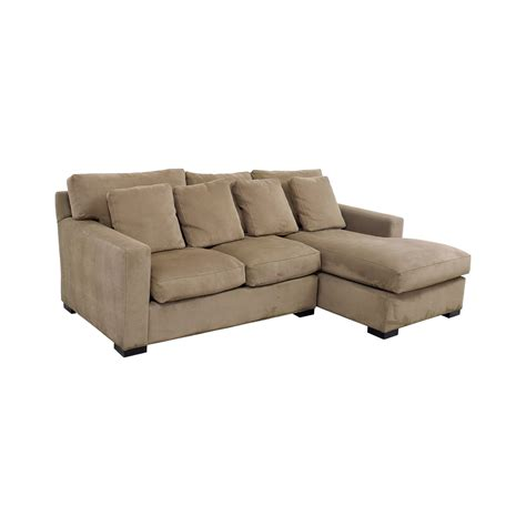 crate and barrel chaise 65 off crate barrel crate barrel axis tan right arm