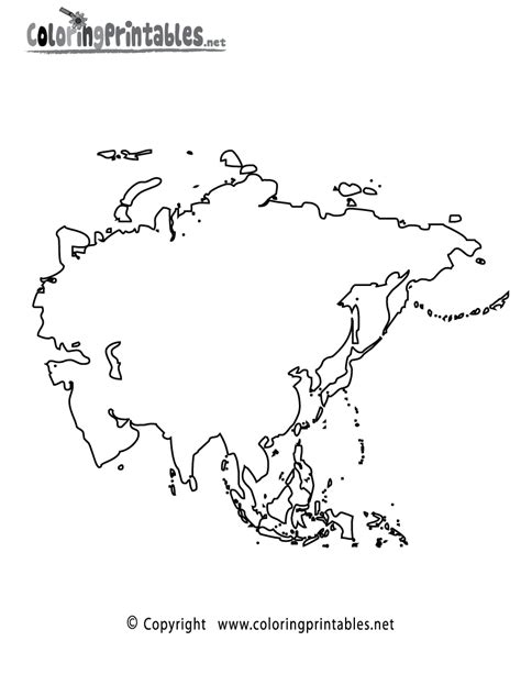 coloring page map of asia asia map coloring page a free travel coloring printable