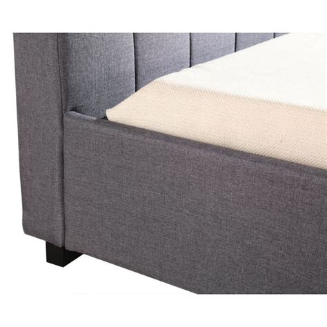 grey linen bed frame deluxe king single linen fabric bed frame in grey buy