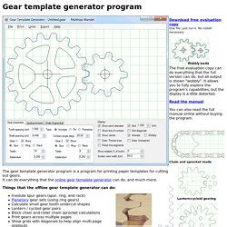 gear template generator program laser cutter pearltrees