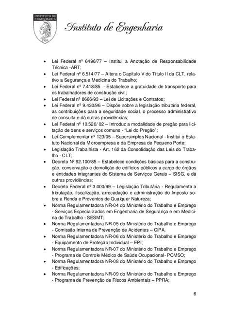 Norma para orçamentos instituto de engenharia