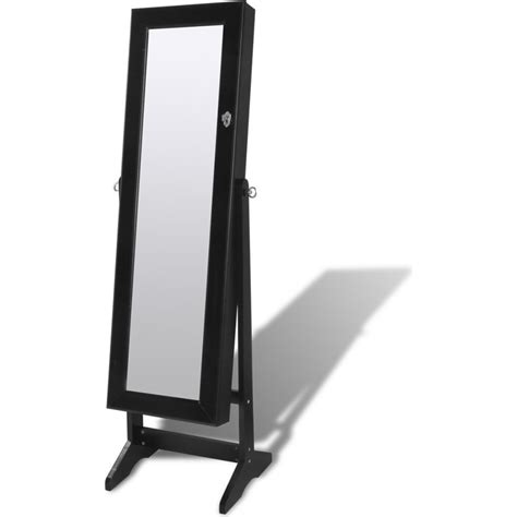 jewellery mirror cabinet with led lights standing mirror jewellery cabinet w led light black buy
