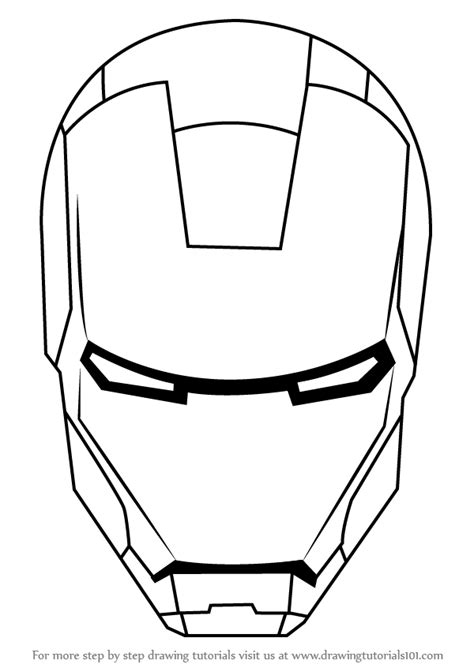 learn how to draw iron man s helmet iron man step by