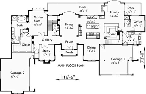 Luxury House Plans Master On The Main House Plans 10080 Luxury Home Plans With 4 Car Garage