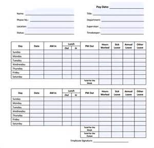 Daily Sheet Template by Daily Timesheet Template 9 Free For Pdf Excel