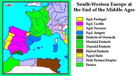 europe 15th century map whkmla historical atlas south western europe 44 b c