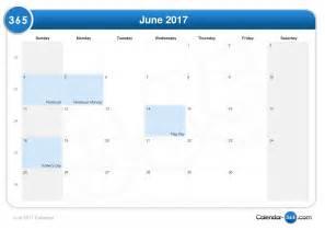 june 2017 calendar with holidays monthly calendar printable