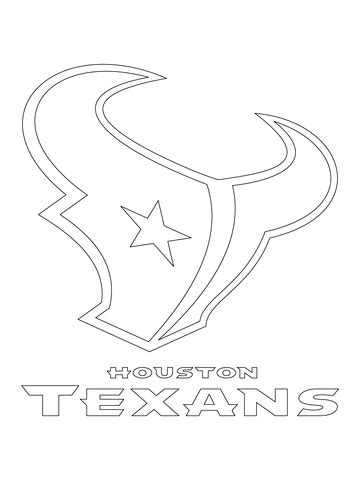 nfl symbols coloring pages houston texans logo coloring page free printable