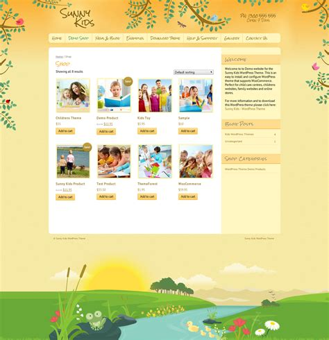templates blogger kid sunny kids creative woocommerce by dtbaker themeforest