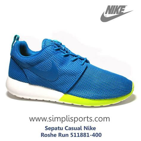 sepatu sneakers casual nike roshe run original 511881 400