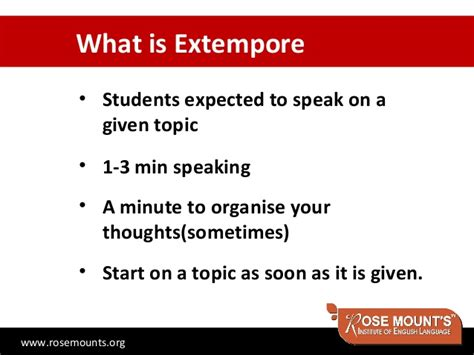 Extempore Topics For Mba Students extempore