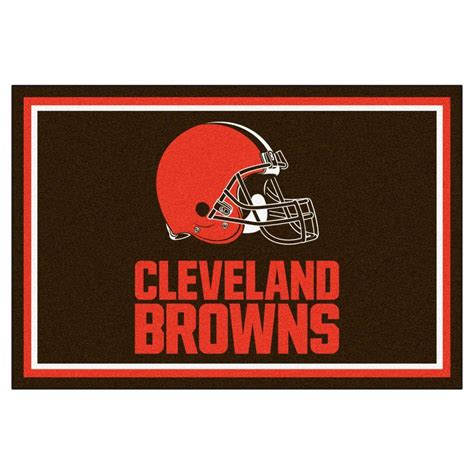 Area Rugs Cleveland Fanmats Nfl Cleveland Browns Brown 5 Ft X 8 Ft Area Rug 6570 The Home Depot