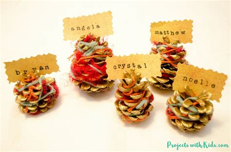 make your own place card holders beautiful pinecone place card holders for your