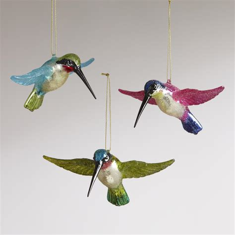 flying hummingbird ornaments set of 3 world market