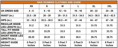shoe size chart nike uk nike womens uk size chart lera sweater