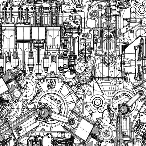 doodle engine technical engine drawing pattern k2forums