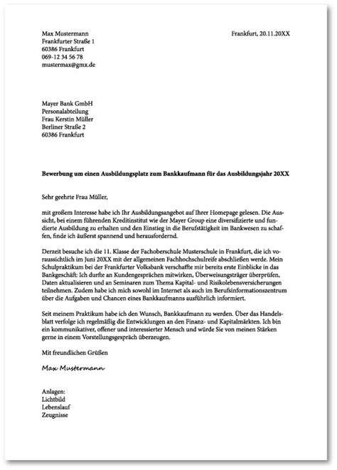 Anschreiben Bewerbung Ohne Adresse Das Perfekte Anschreiben F 252 R Die Bewerbung Zur Ausbildung Ausbildungspark Verlag