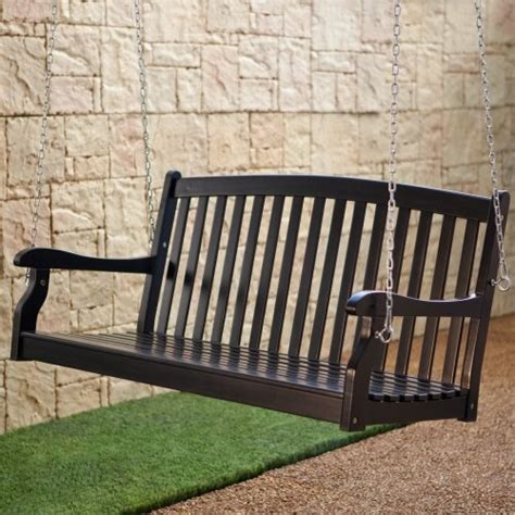 porch swing black pleasant bay black painted porch swing balcony ideas