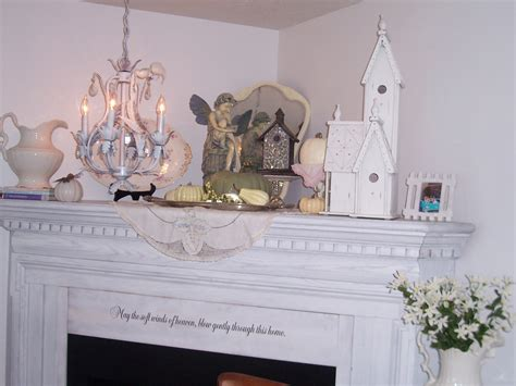 shabby chic mantle two cottages and tea shabby chic mantel