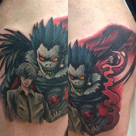 death note tattoo attack on titan tattoos thor grove gallery
