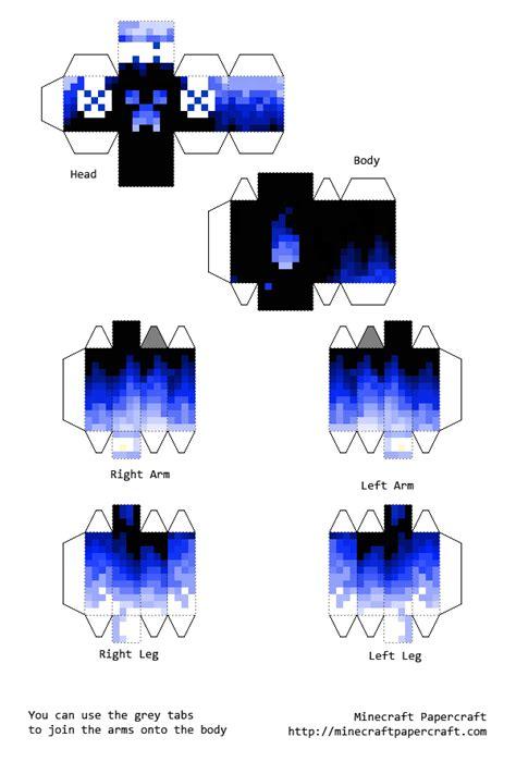 Pixel Papercraft Minecraft - papercraft water creeper