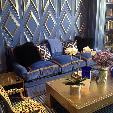 blue and gold home decor blue sofa design ideas