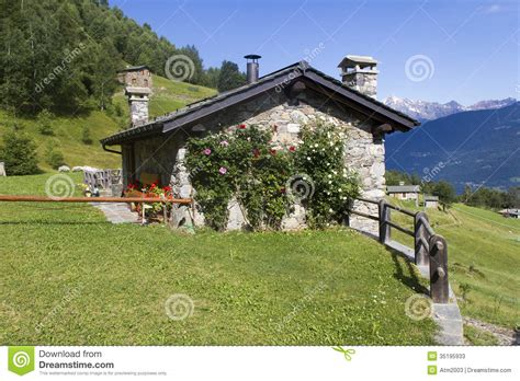 Alpine Cottages by Alpine Cottage Stock Image Image Of Summer Mountains
