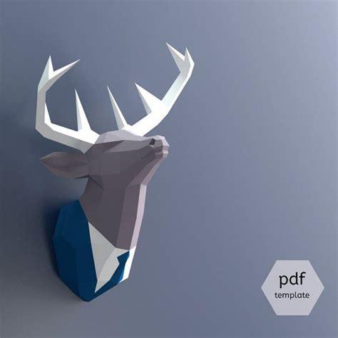Papercraft Deer - m 225 s de 25 ideas 250 nicas sobre cabeza de ciervo en
