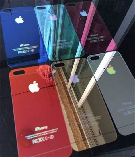 Anti Gores Tempered Glass Mirror 2in1 For Iphone 44s4g Frontback colorful tempered glass screen protector mirror tempered glass anti scratch shatterproof