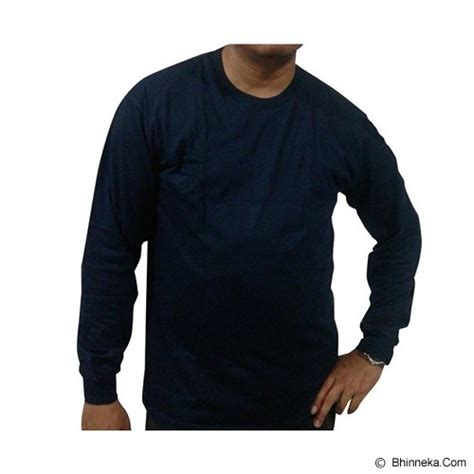 Baju Polos Biru Navy jual bkp kaos polos lengan panjang size 4l biru navy murah bhinneka