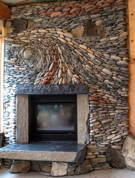 Pebble Tile Fireplace by 13 Most Amazing Fireplaces On Earth Apartment Geeks