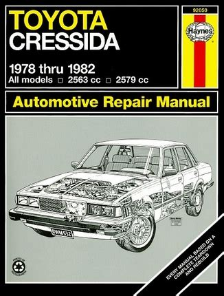 free car repair manuals 1982 toyota celica spare parts catalogs toyota cressida repair and service manual 1978 1982 haynes