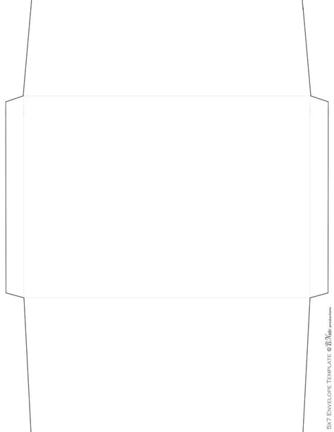 envelope template for word images