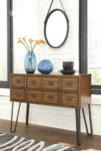 centiar dining room centiar two tone brown dining room server from ashley