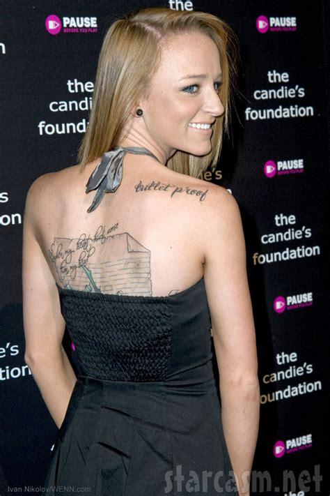 maci bookout tattoos photos maci bookout s back tattoos explained