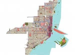 Miami Zoning Map by Miami 21 Miami Florida Usa