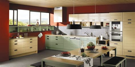 designed kitchens red kitchens