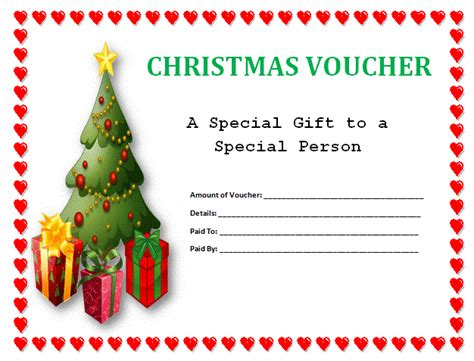 christmas printable voucher templates blank christmas voucher template sle helloalive