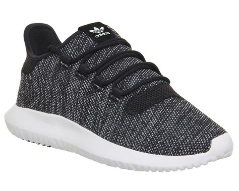 adidas tubular shadow utility black white knit unisex sports