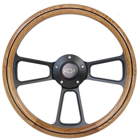 Chevy Truck With Rear Wheel Steering by 1956 Chevy Up Truck Real Oak Steering Wheel Black