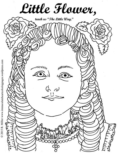 little flower saint therese of lisieux coloring page
