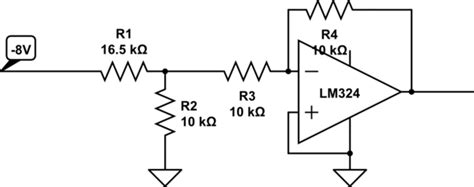 resistor divider op op voltage divider before inverting op electrical engineering stack exchange