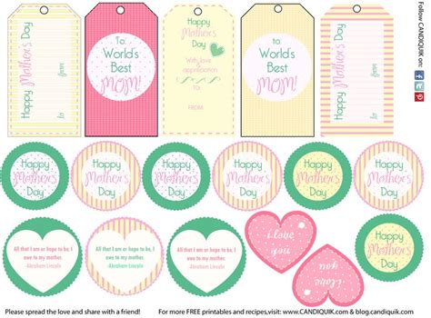 free printable gift tags mothers day 76 best images about parties father s mother s day on