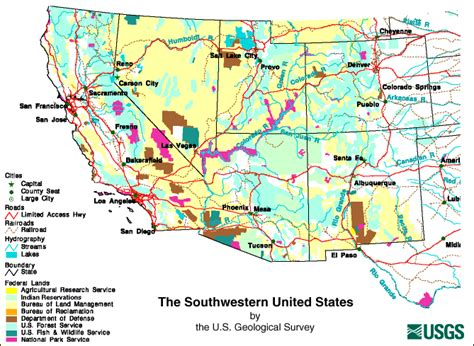 map us southwest image gallery southwestern map