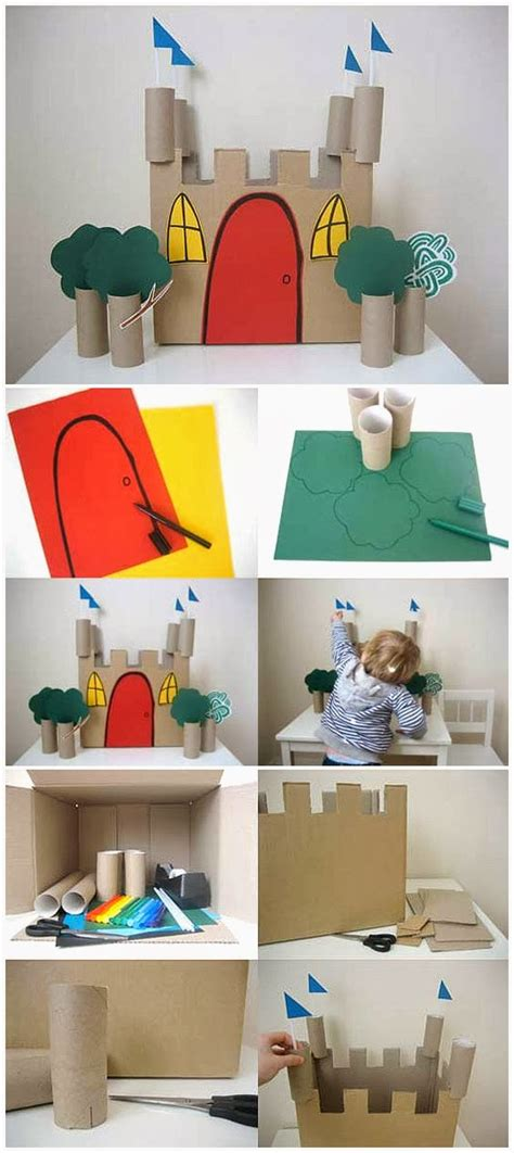 Toilet Paper Roll Castle Craft - toilet paper roll crafts for paper crafts ideas for