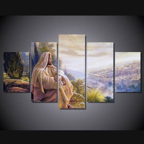 jesus home decor print 5 pcs canvas wall art print jesus default painting