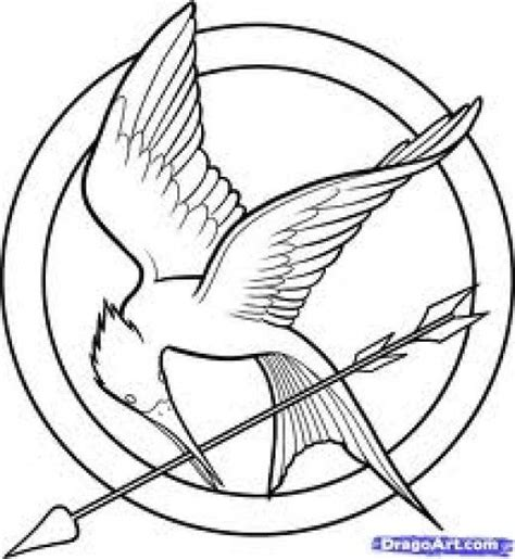 hunger games coloring pages printable the hunger games coloring pages logo misc pinterest