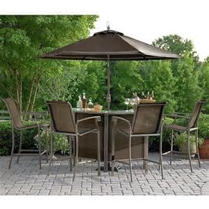 garden oasis ss j 251 1bset5 alexandria 5 piece patio bar set sears outlet