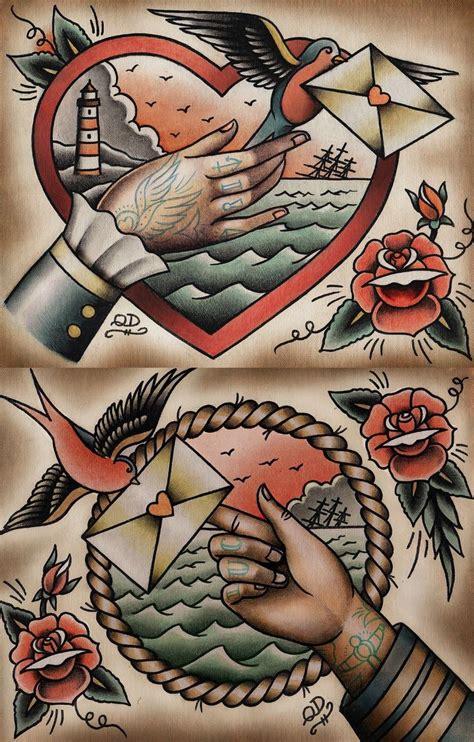 tattoo couple old school guia de estilos de tatuagem